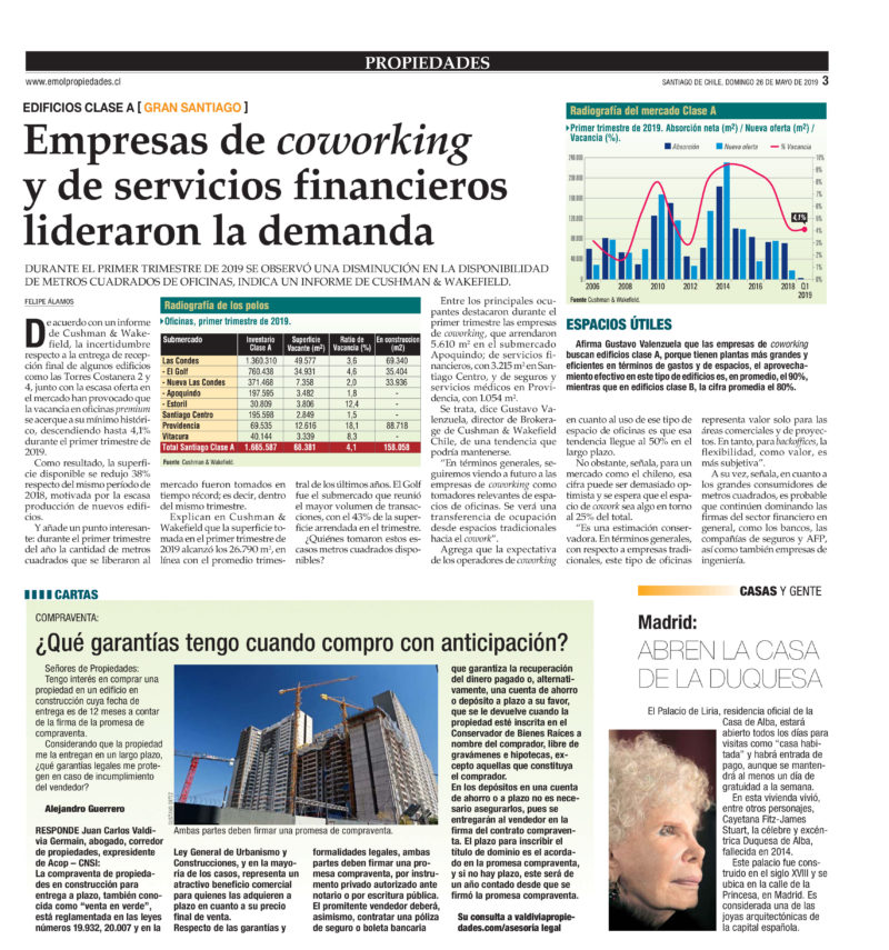 Prensa El Mercurio 26-05-2019